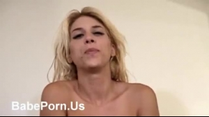 Mature blonde with black hair and big boobs is often sucking dick and eating fresh cum