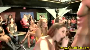 Gorgeous cfnm babes get their asses screwed by strippers