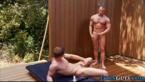 Bald guys toying stepmom anally and pussy